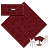 25 Tischdecken 100x100 cm VICTORIA Bordeaux