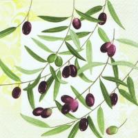 20 Servietten 33x33 cm - Olive Twig