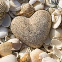20 Servietten 33x33 cm - Stone Heart