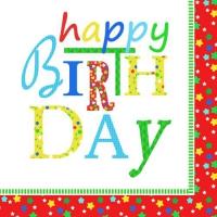 20 Servietten 33x33 cm - Happy Birthday