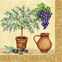 20 Servietten 33x33 cm - Tuscan Culture