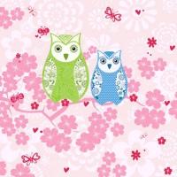 20 Servietten 33x33 cm - Owls
