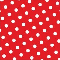 30 Servietten 33x33 cm - Dots rot