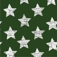 30 Servietten 33x33 cm - Vintage Stars dunkelgrün