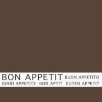 30 Servietten 33x33 cm - Bon Appetit braun