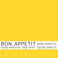 30 Servietten 33x33 cm - Bon Appetit gelb