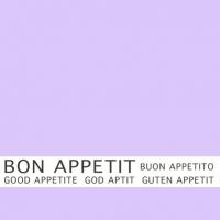 30 Servietten 33x33 cm - Bon Appetit lila