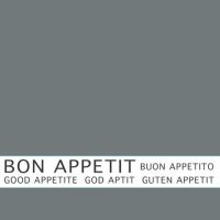 30 Servietten 33x33 cm - Bon Appetit grau