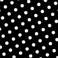 30 Servietten 33x33 cm - Dots schwarz