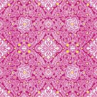 20 Servietten 33x33 cm - Ornament pink