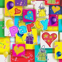 20 Servietten 33x33 cm - Party Mix