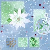 20 Servietten 33x33 cm - White Poinsettia
