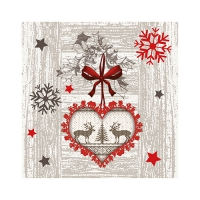50 Servietten 25x25 cm - X-mas Highlights
