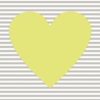 30 Servietten 33x33 cm - Hearty limonengrün