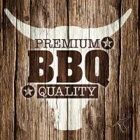 20 Servietten 33x33 cm - Premium BBQ