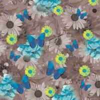 20 Servietten 33x33 cm - Blue Butterflies