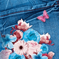 20 Servietten 33x33 cm - Blue Jeans