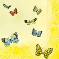 20 Servietten 33x33 cm - Papillons