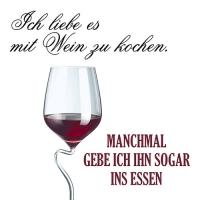 20 Servietten 33x33 cm - Kochen mit Wein