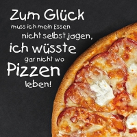 20 Servietten 33x33 cm - Pizzatime