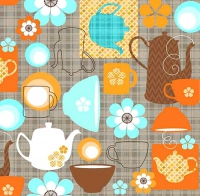 20 Servietten 33x33 cm - Coffee Party