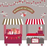 20 Servietten 33x33 cm - Christmas Market