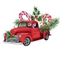 20 Servietten 33x33 cm - Christmas Car