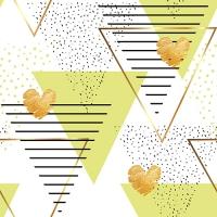 30 Servietten 33x33 cm - Modern Hearts limonengrün
