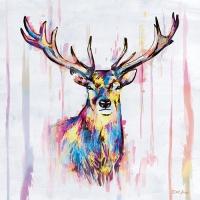 20 Servietten 33x33 cm - Colourful Deer
