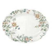Porzellan-Platte - Zen white