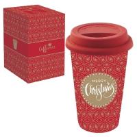 Porzellan Mug To-Go 350ml - MERRY CHRISTMAS
