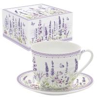 Porzellan-Tasse - Lavender Field