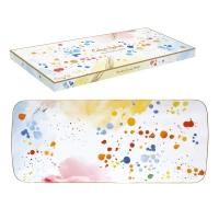 Porzellan-Platte 36cm - Color Spash