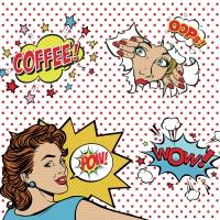 Servietten 33x33 cm - Coffee Mania - POPT