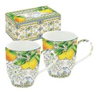 Porzellan-Tasse - Capri Zitrone