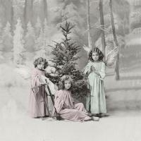 Servietten 33x33 cm - Christmas angels