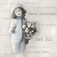 Servietten 33x33 cm - Christmas Girl