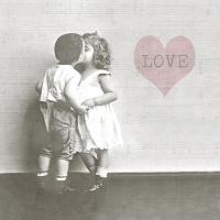 Servietten 33x33 cm - Kissing Couple