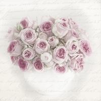 Lunch Servietten Pink Rose in Vase