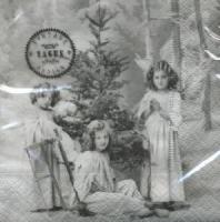 Servietten 25x25 cm - 3 Christmas angels