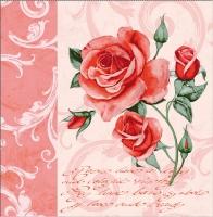 Linclass Dinner Servietten - ROMANTISCHES Rosa