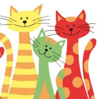 Linclass Dinner Servietten CATS