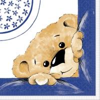 Lunch Servietten TEDDY blau