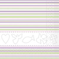 Tissue Lunch Servietten - KOMMUNION / KONFirmATION rosa / gr̮