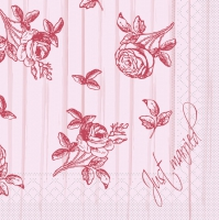 Tissue Lunch Servietten - HOCHZEIT rosé