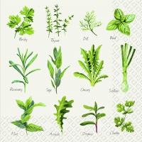 Servietten 33x33 cm - Herb