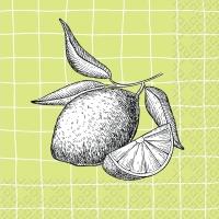 Servietten 33x33 cm - Lemon