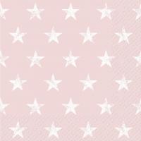 Servietten 33x33 cm - Seren rosa hell
