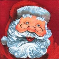 Servietten 25x25 cm - Weihnachtsmann rot