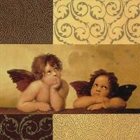 Cocktail Servietten Two winged Angels